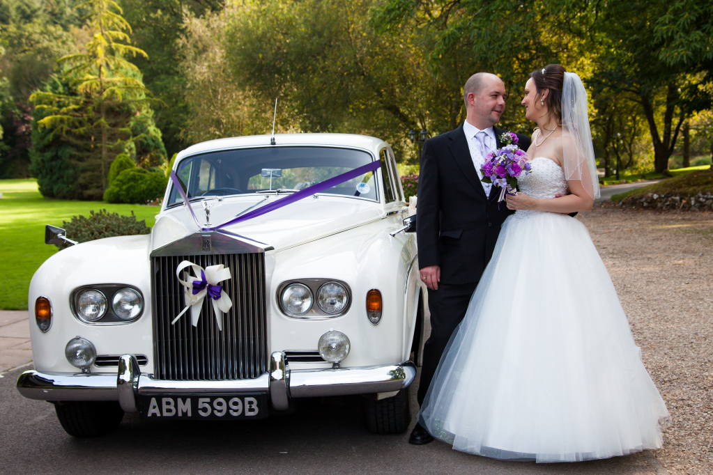 Rock up to your wedding in style with the perfect wedding car in Bristol. Wedding car photos in Bristol.